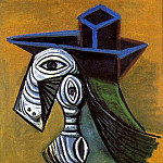 Pablo Picasso (1881-1973) Period of creation: 1931-1942 - 1939 Femme au chapeau bleu