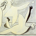 1932 Femmes jouant au ballon, Pablo Picasso (1881-1973) Period of creation: 1931-1942