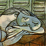 1936 Dormeuse aux persiennes 1, Pablo Picasso (1881-1973) Period of creation: 1931-1942