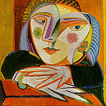 1936 TИte de femme, Pablo Picasso (1881-1973) Period of creation: 1931-1942