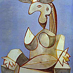 1939 Femme assise au chapeau 2, Pablo Picasso (1881-1973) Period of creation: 1931-1942