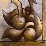 1933 Nu assis, Pablo Picasso (1881-1973) Period of creation: 1931-1942
