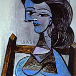 1938 Femme assise , Pablo Picasso (1881-1973) Period of creation: 1931-1942
