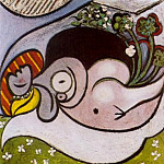 Pablo Picasso (1881-1973) Period of creation: 1931-1942 - 1932 Nu couchВ aux fleurs