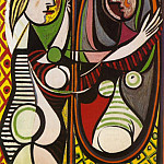 Pablo Picasso (1881-1973) Period of creation: 1931-1942 - 1932 Jeune fille devant un miroir