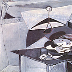 1936 fille endormie sur une table1, Pablo Picasso (1881-1973) Period of creation: 1931-1942