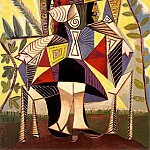1938 Femme assise au jardin, Pablo Picasso (1881-1973) Period of creation: 1931-1942