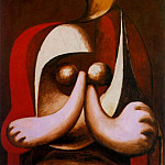 Pablo Picasso (1881-1973) Period of creation: 1931-1942 - 1932 Femme assise dans un fauteuil rouge