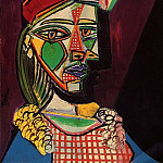 1937 Femme au bВret et Е la robe Е carreaux , Pablo Picasso (1881-1973) Period of creation: 1931-1942