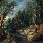 Peter Paul Rubens - A Shepherd with his Flock in a Woody Landscape