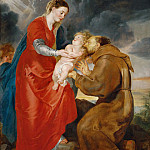 Peter Paul Rubens - Rubens,Peter Paul -- The Virgin presents the infant Jesus to Saint Francis. Canvas, 1618