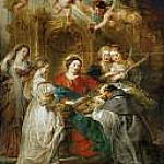 Peter Paul Rubens - Ildefonso Altarpiece; central panel with Holy Virgin Appears to Saint Ildefonso