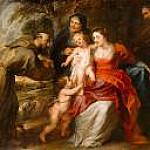 The Holy Family with Saints Francis and Anne and the Infant Saint John the Baptist, Peter Paul Rubens