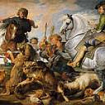 Peter Paul Rubens - Wolf and Fox Hunt (Rubens and Workshop)