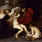 Peter Paul Rubens - Peter Paul Rubens -- The bath of Diana, 1635-1640