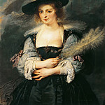 Peter Paul Rubens - Portrait of Helene Fourment, by Peter Paul Rubens (1577-1640). Detail. --