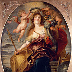 Peter Paul Rubens - Pieter Paul Rubens (1577-1640), Allegory of France personified by Marie de' Médicis (1573-1642). --