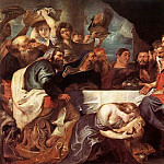 Christ at Simon the Pharisee - 1618- 1620, Peter Paul Rubens