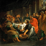 Peter Paul Rubens - Rubens,Peter Paul -- Christ washing the apostles' feet. 1632 Canvas
