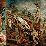Peter Paul Rubens - The Elevation of the Cross, sketch for the triptych