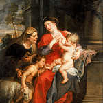 'The Virgin and Child with St Elizabeth and the Child Baptist',Oil on canvas, 180 x 139.5cm -- , Peter Paul Rubens
