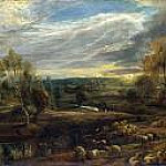 A Landscape with a Shepherd and his Flock, Peter Paul Rubens