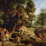 Boar Hunt - 1615 - 1620, Peter Paul Rubens