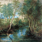 Peter Paul Rubens - Peter Paul Rubens -- Landscape with Stream Overhung with Trees