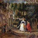 Peter Paul Rubens - Rubens Rubens In His Garden With Helena Fourment