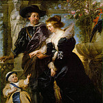Peter Paul Rubens - Rubens Rubens his wife Helena Fourment and their son Peter Paul