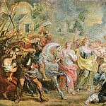 Truce between Romans and Sabinians, Peter Paul Rubens
