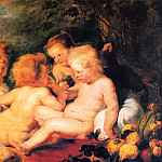 Christ and St. John with Angels, Peter Paul Rubens