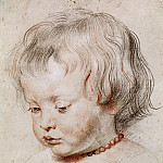 Peter Paul Rubens -- Study of the Artist's Son, Nicolas, Peter Paul Rubens