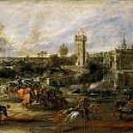 Peter Paul Rubens - Tournament in front of Castle Steen