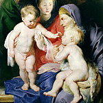 Holy Family with St Elizabeth and St John the Baptist - 1614, Peter Paul Rubens