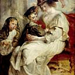 Peter Paul Rubens - Helene Fourment with her Children