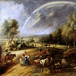 Landscape with a Rainbow - ок 1636, Peter Paul Rubens