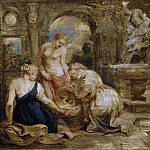 Peter Paul Rubens - Cecrops' Daughters Finding Erichtonius. Sketch