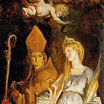 Saints Amandus and Walburga; Saints Catherine of Alexandria and Eligius -- c.1610, Peter Paul Rubens