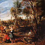 Farm at Laken - 1618, Peter Paul Rubens