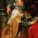 Peter Paul Rubens - Ildefonso Atarpiece; detail of left wing with Albrecht VII, Archduke of Austria and Governor of the Netherlands