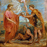 Constantius appoints Constantine as his successor -- Year, Peter Paul Rubens