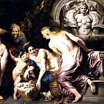 The Discovery of the Child Erichthonius - 1615, Peter Paul Rubens