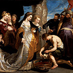 Head of Cyrus Brought to Queen Tomyris - ок 1622 -1623, Peter Paul Rubens