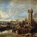 Landscape with Tower, Peter Paul Rubens