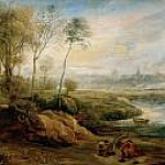 Landscape with Bird Catcher, Peter Paul Rubens