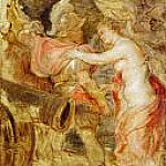 Peter Paul Rubens - Venus accompanies Mars to war