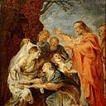 Peter Paul Rubens - Resurrection of Lazarus,sketch for the Berlin painting destroyed in 1945