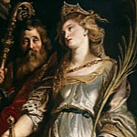 Rubens Raising of the Cross Sts Eligius and Catherine, Peter Paul Rubens
