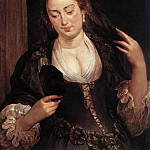 Woman with a Mirror -1640, Peter Paul Rubens